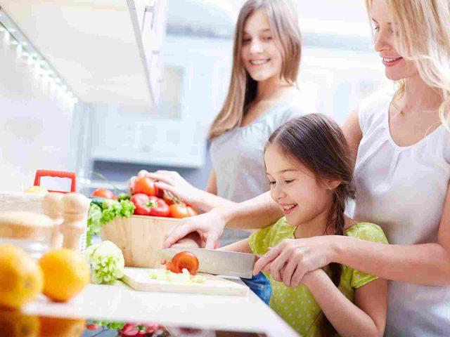 zdrowy posiłek - rodzina